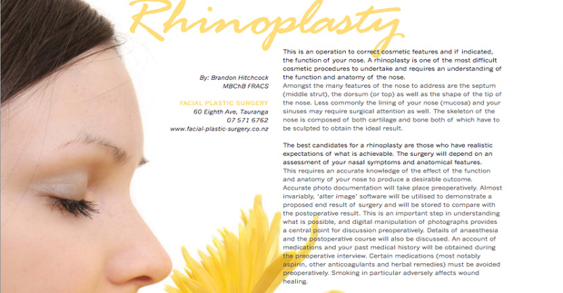 UNO Lifestyle Magazine - Rhinoplasty review